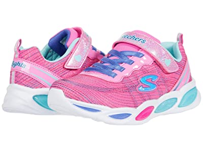 SKECHERS KIDS Sport Lighted Shimmer Beams Sparkle Glow 20300L (Little Kid/Big Kid) (Pink/Multi) Girl