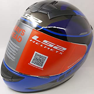 LS2 Helmets - FF352 Rookie - Recruit - Gloss Black Blue - Single Mercury Visor Full Face Helmet - (Large - 580 MM)