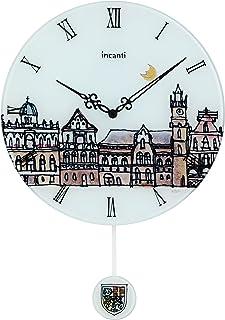 ガラス製 振子時計 INCANTI EGF-702 La Citta