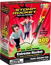 Stomp Rocket Extreme Rocket 6 Rockets - Outdoor Rocket Toy Gift for Boys and Girls- Comes with Toy Rocket Launcher - Ages ...