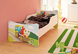 BEST FOR Kids Children s Bed With MATTRESS T V CERTIFIED SUPER SELECTION SIZES MANY DESIGNS  70x160  Locomotive