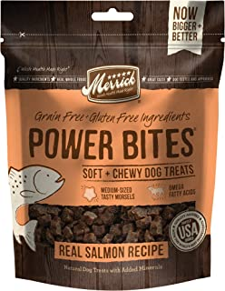 Merrick Power Bites Natural Grain Free Gluten Free Soft & Chewy Chews Dog Treats