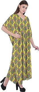 RADANYA Floral Cotton Kaftan Swimwear Swimsuit Beachwear Bikini Coverup Caftan Dress