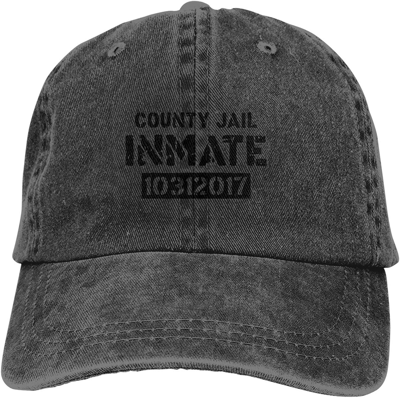 WAYMAY County Jail Inmate Unisex Adjustable Cowboy Hat Adult Cotton Baseball Cap