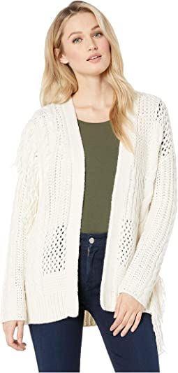 Novelty Mix Stretch Fringe Cardigan