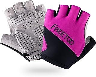 FREETOO トレーニング グローブ レディース 筋トレ 滑り止め 耐摩耗 通気性 ジム ウエイトトレーニンググローブ バーベル/ダンベル/バトルロープ/マシントレーニングに適応 全4サイズ