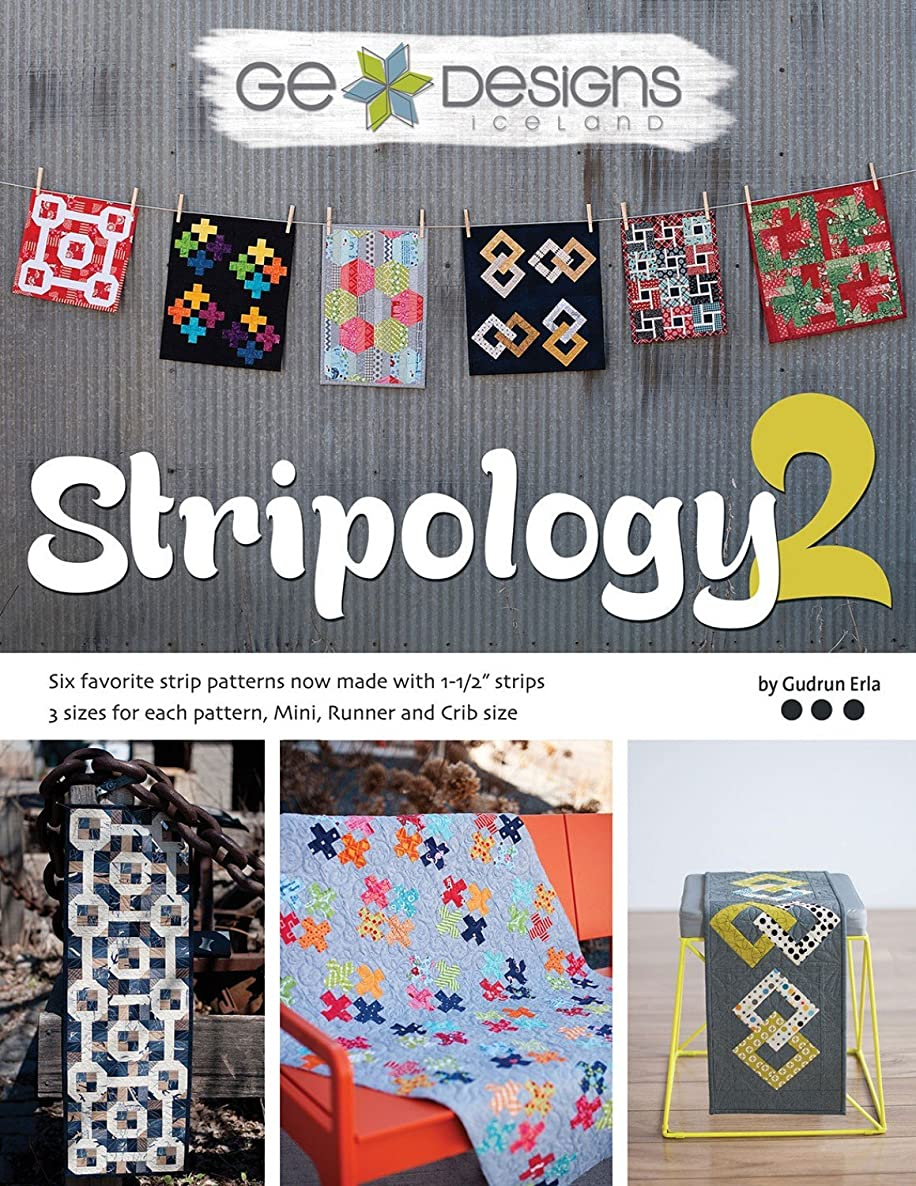 G.E. Designs GE-510 Stripology 2 Softcover Quilt Strip Pattern Book
