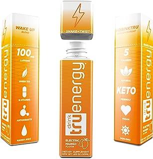 TruEnergy Sport Shot, Healthy Pre Workout Drink For Athletes, Citrus Mango (12 Shots)