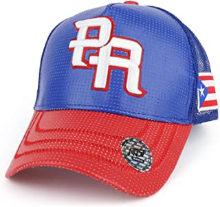 PR 3D Embroidered Trucker PU Mesh Cap with Puerto Rico Flag