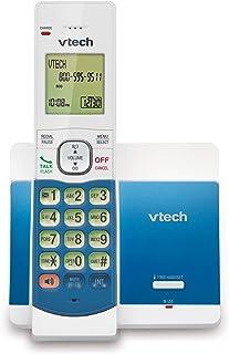 VTech CS5119-18 DECT 6.0 - Teléfono inalámbrico Extensible con ID de Llamada y Altavoz, Color Blanco y Azul con 1 Auricular