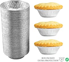 120 Pack - Pie Pans 5 Inch, Disposable Pie Tins, Aluminum Pie Pans, Foil Tart Pans used for Baking, Storage and Reheating/Pies, Tart and Quiche by Spare Essentials