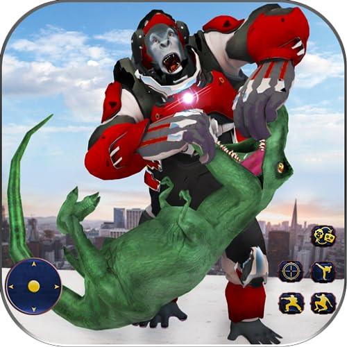 Wilder Gorilla-Verwandlungsroboter: Dinojagdspiel
