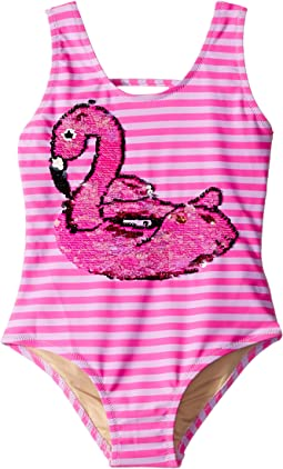 Magic Two-Way Sequin Swan One Piece (Toddler)