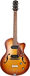 Godin 5th Avenue CW Electric Guitar (Kingpin II, Cognac Burst)