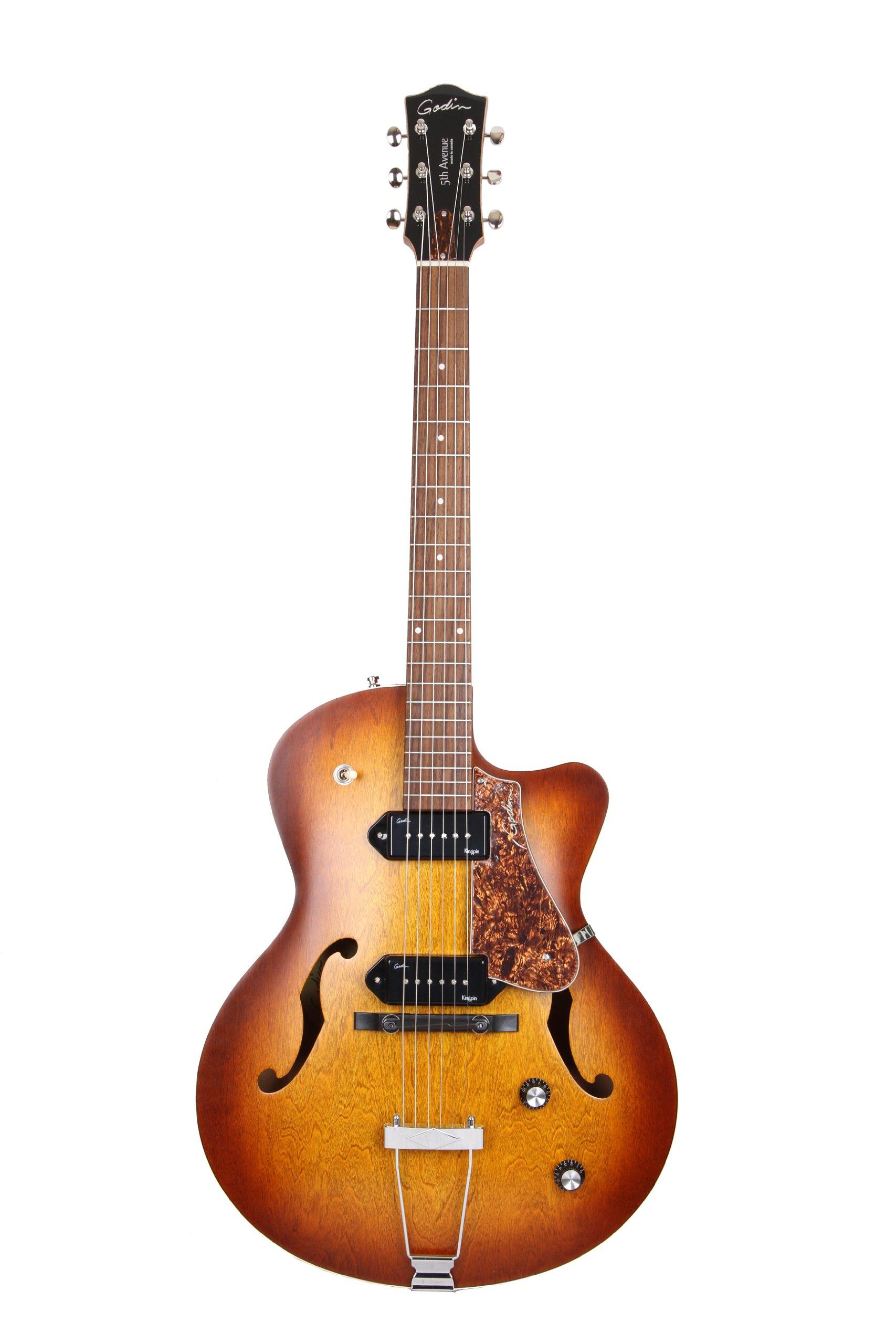 Cheap Godin 5th Avenue CW Electric Guitar (Kingpin II Cognac Burst) Black Friday & Cyber Monday 2019