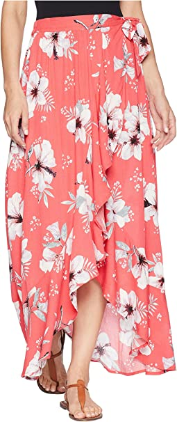 "Jack by BB Dakota Kaliyah ""Tahitian Petals"" Printed Wrap Skirt"