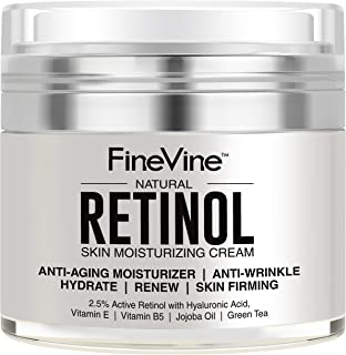 Retinol Moisturizer Cream for Face and Eye Area – Made in USA – with..