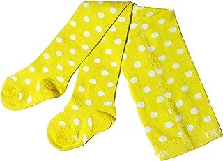 Weri Spezials - Collant per neonati e bambini, a pois, colore: Vaniglia