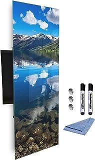 370145027 Armoire à clés avec façade en verre magnétique 80 x 30 cm