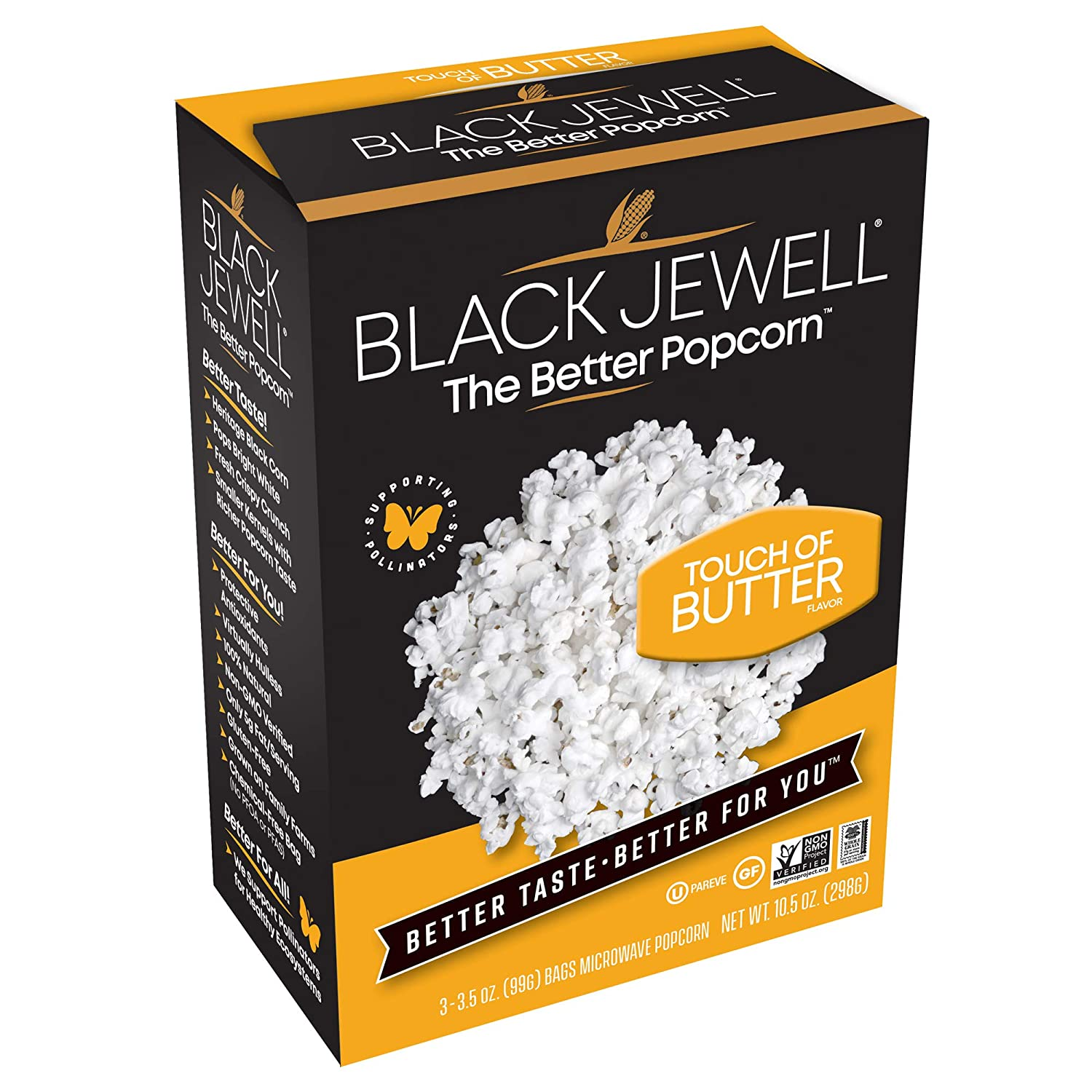 Black Jewell Gourmet Microwave Sales Popcorn Touch 10.5 Ou of Butter Financial sales sale