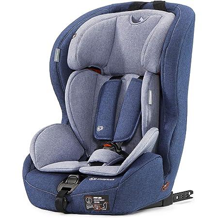 kk Kinderkraft Seggiolino Auto Saftey Fix, con Isofix, Poggiatesta Regolabile, per Bambini da Gruppo 1/2/3, 9-36 Kg, Blu