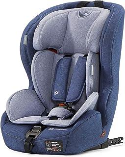 Kinderkraft Kinderautositz SAFETY FIX, Autokindersitz, Autositz, Kindersitz mit Isofix und Top Tether, Gruppe 1/2/3 9-36kg, 5 Punkt Sicherheitsgurt, Einstellbare Kopfstütze, ECE R44/04, Blau