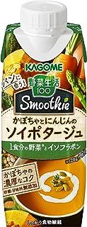 カゴメ 野菜生活100 Smoothieかぼちゃとにんじんのソイポタージュ 250g ×12本...