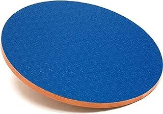 3B Scientific W15078 Eucalyptus Wood Circular Wobble Board 0 - 16 Degree Angles,  3 Height,  16 Diameter