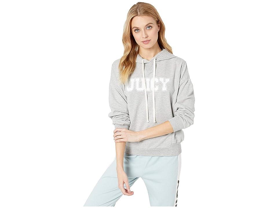 Juicy Couture Oversize Logo Collegiate Hoodie (Heather Cozy) Women