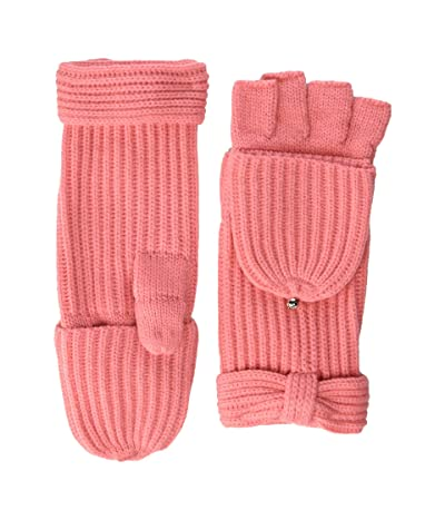 Kate Spade New York Solid Bow Pop Top Mitten (Chilled Apricot) Gore-Tex Gloves