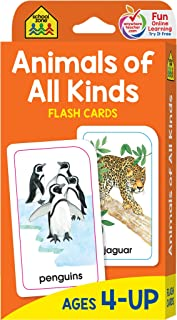 School Zone - Animals of All Kinds Flash Cards - Ages 4 and Up, Preschool, Kindergarten, Animal Names & Classes, Animal Fa...