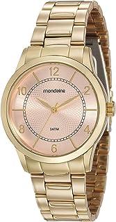 Relógio, Analógico, Mondaine, 99241LPMVDE1, feminino, DOURADO