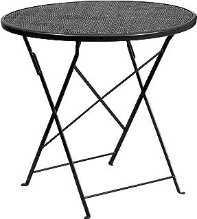 Flash Furniture 30'' Round Black Indoor-Outdoor Steel Folding Patio Table