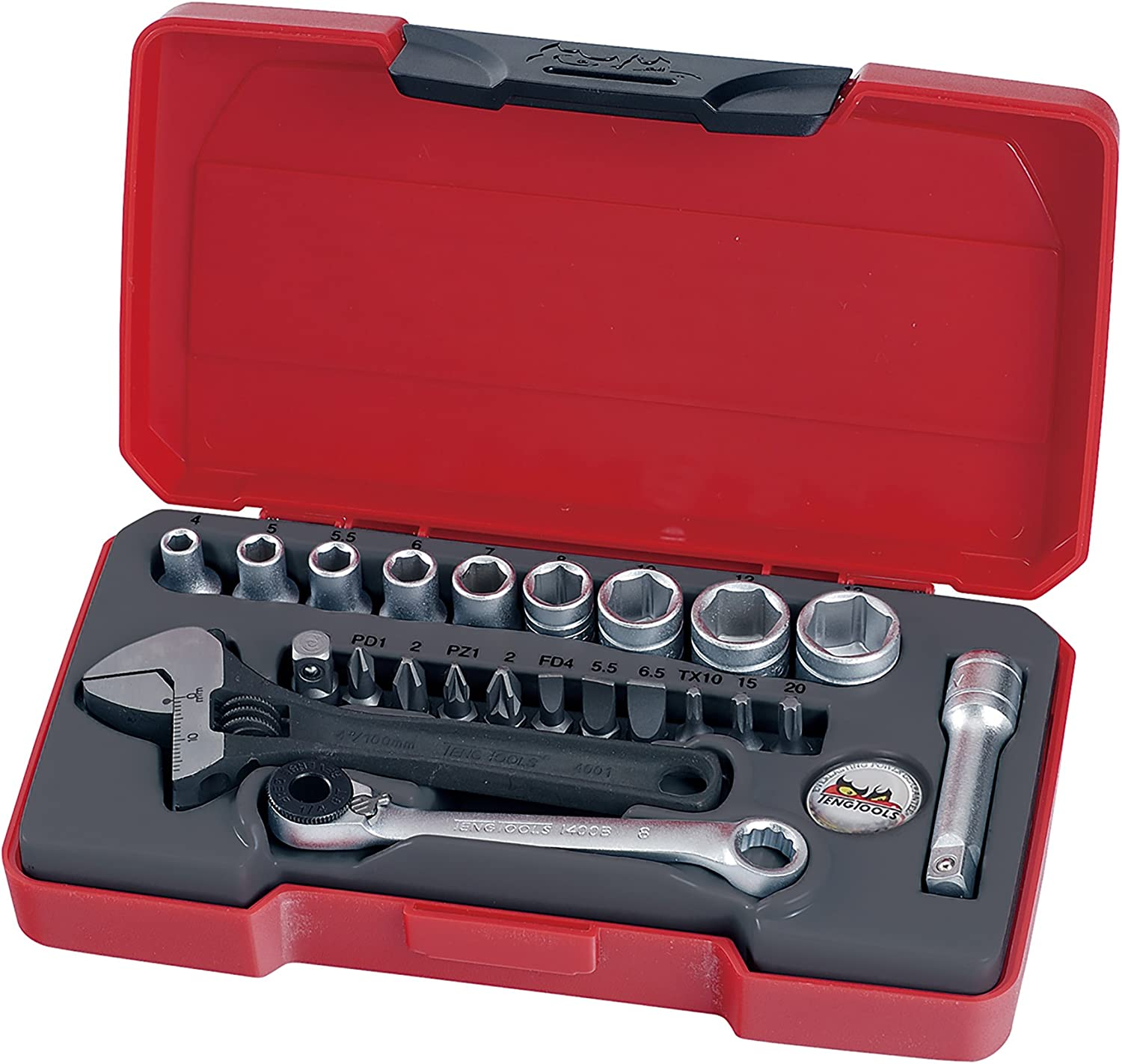 Teng Tools famous 23 Piece 1 4 Inch Point Metric 6 New arrival Shallo Drive Regular