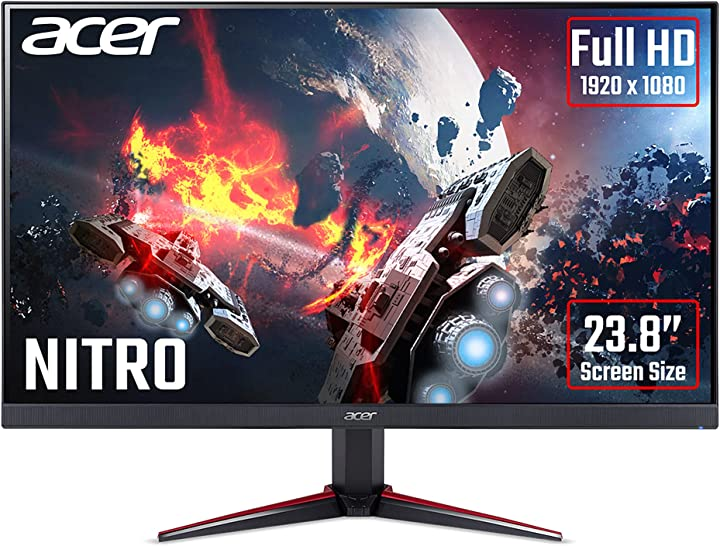 Monitor pc 24 pollici acer nitro vg240ys – gaming full hd 165 hz (61 cm, 1920 x 1080, display ips led UM.QV0EE.S01