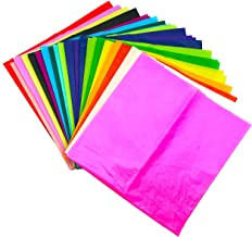 20pk Assorted Coloured Tissue Paper | 66cm x 50cm Solid Colour Crepe Paper Sheets | Perfect for Gift Wrapping, Kids Art and Craft Tissue Paper