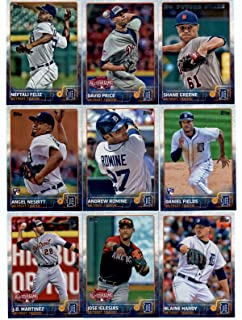 2015 Topps Update Series Detroit Tigers Baseball Cards Team Set of 14 Cards: Shane Greene, Miguel Cabrera, Daniel Norris, David Price, Neftali Feliz, Daniel Fields, Andrew Romine, Tyler Collins, Angel Nesbitt, Blaine Hardy, Alex Wilson, Jose Iglesias, J.D. Martinez, Matt Boyd in Protective Snap Case