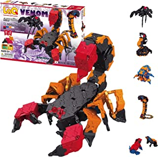 LaQ Animal World Venom - 6 Models, 330 Pieces| STEM Construction Set | Made in Japan | Educational Sensory Toy for Ages 5,...