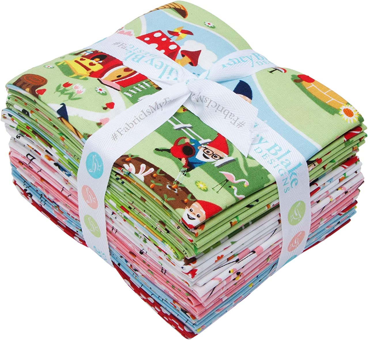 Shawn Wallace Gnome and Gardens 15 Fat Quarters Riley Blake Designs FQ-7890-15