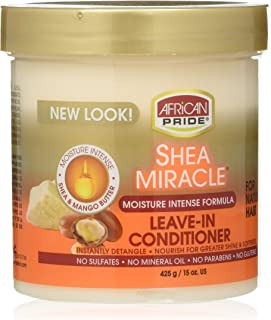 African Pride Shea Butter Miracle Leave-in Conditioner, 15 Ounce