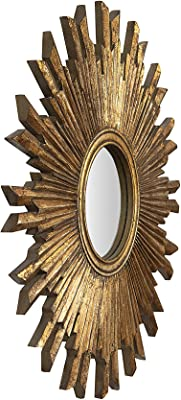 Creative Co-Op Round MDF Wood Sunburst Mirror