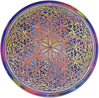 """Sun catcher"""" Fiore di chakra"""" No. 18. Ø 15cm / simbolo meditazione/immagine della finestra appendiabiti/vetro acrilico inf..."""