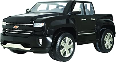 Rollplay 12V Chevy Silverado Kid's Truck, Two-Seat Ride On Toyup to 5 mph - Battery-Powered Kid's Car - Ages 3 & Up - Black