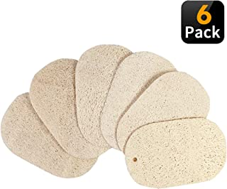 WeCoola 6PCS Natural Loofah Kitchen Sponge, Nice Soft Texture Made, Non-Scratch, Oil Non-Stick, Clean Durable Great Works, 100% Plant-Based Fibers, 1 Pc Free Bamboo Dishcloth