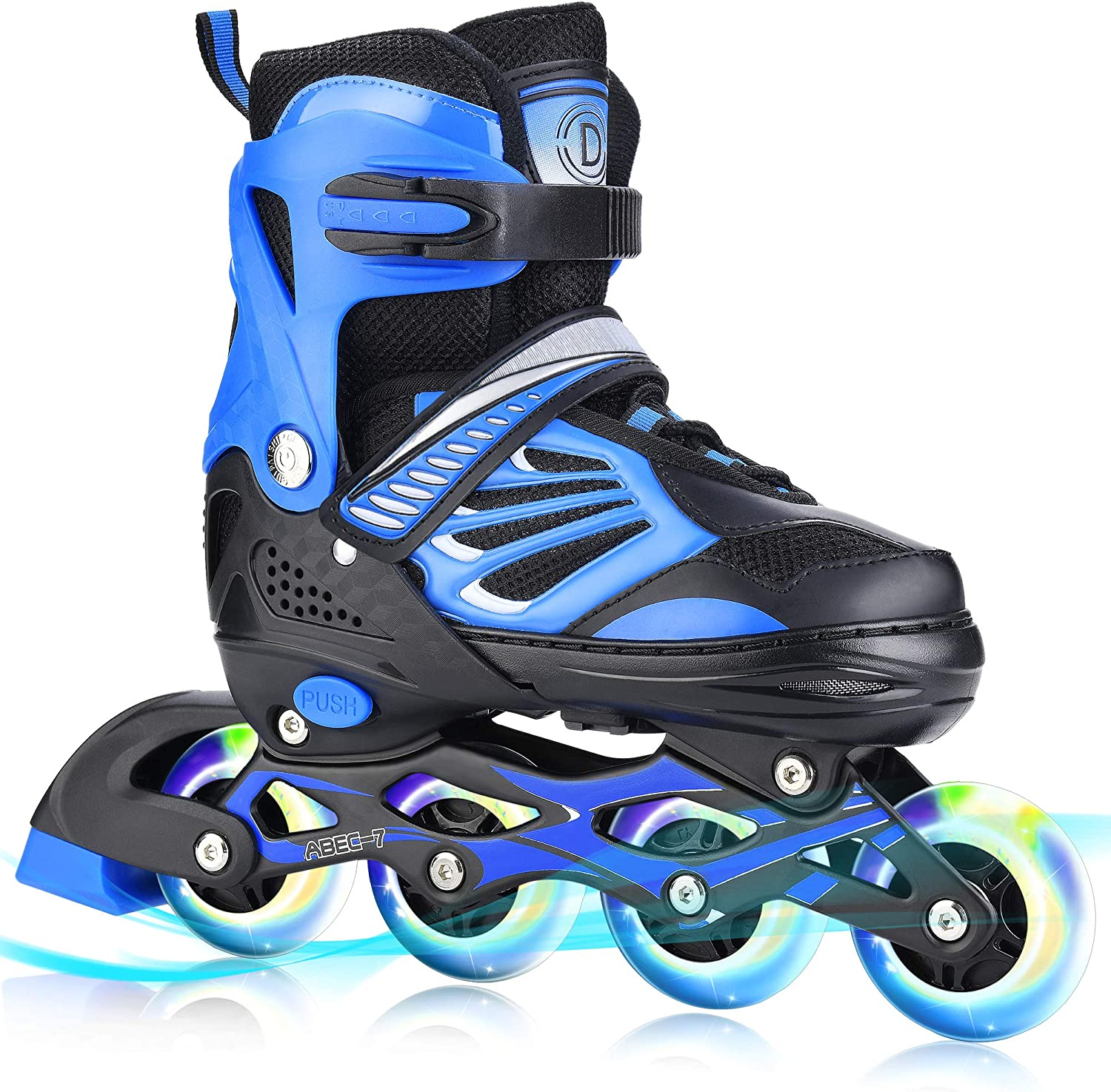 TylooVi Blue Ranking TOP15 Adjustable Inline Skates Omaha Mall for and Boys Girls Women w