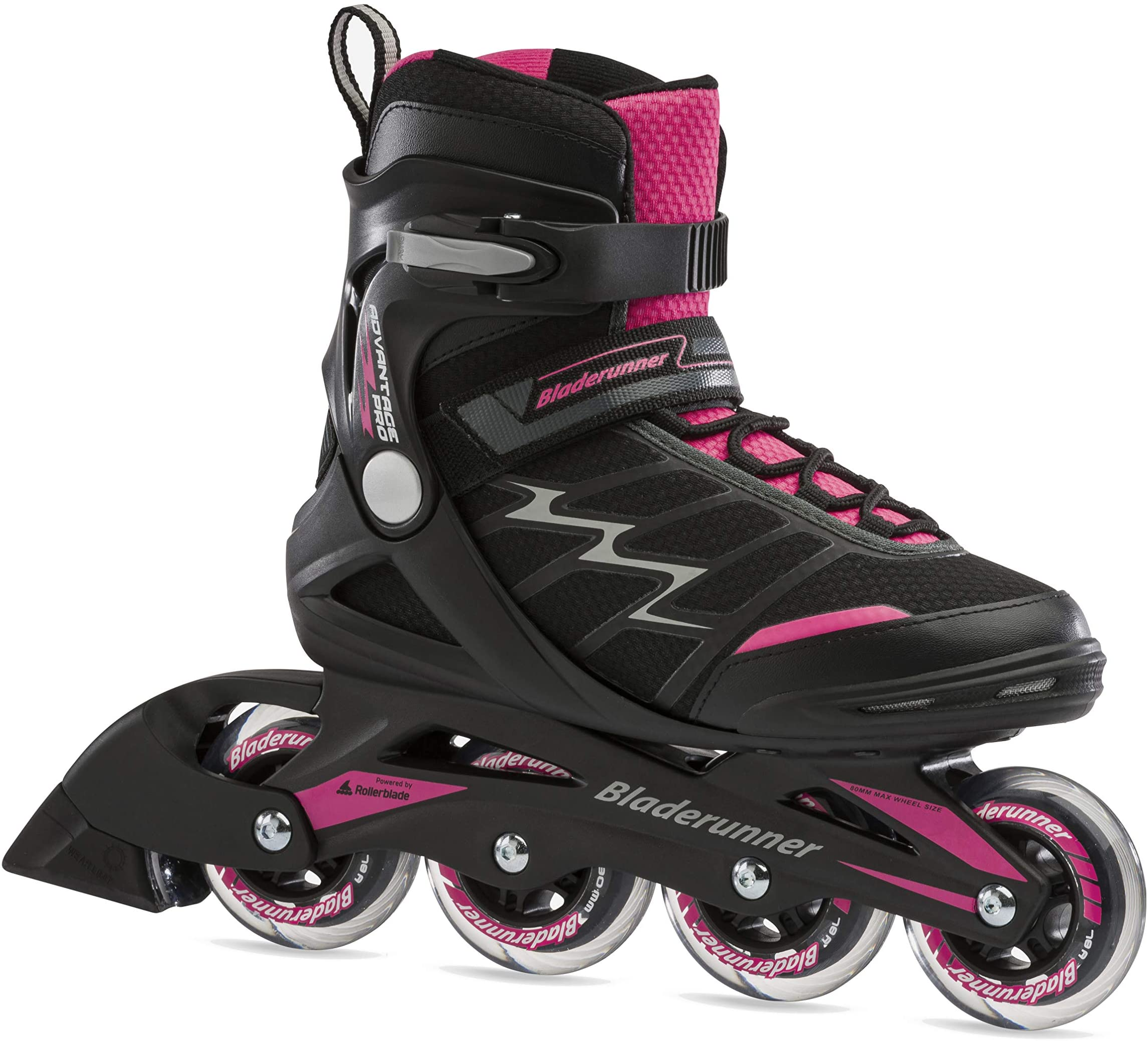 Bladerunner by Rollerblade Advantage Pro XT Women's Adult Fitness Inline Skate, Pink and Black Inline Skates
