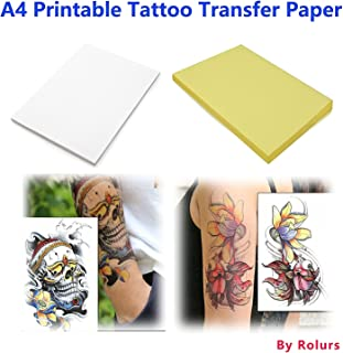 10 Sheets DIY A4 Temporary Tattoo Transfer Paper Printable Customized for Inkjet Printer Halloween Tattoos