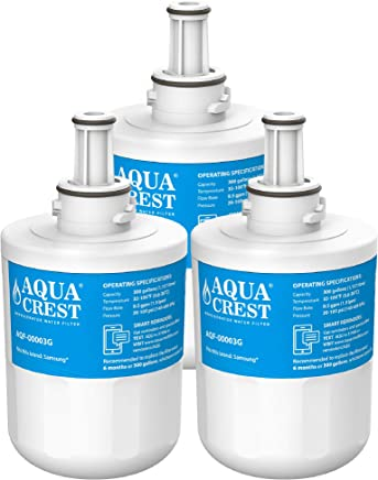 AQUACREST DA29-00003G Refrigerator Water Filter, Compatible with Samsung DA29-00003G, DA29-00003B, DA29-00003A, Aqua-Pure Plus, HAFCU1 (Pack of 3)