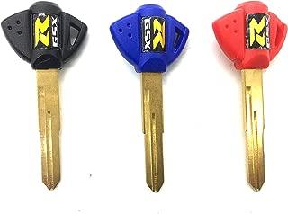 Decor Season 3 x Motorcycle Uncut Blades Blank Keys Fob for Suzuki GSXR 600 750 1000 GSF 650 GSX1300R Hayabusa