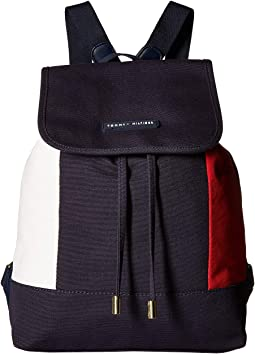 Flag Canvas Flap Backpack